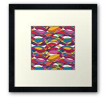 Bright geometric print Framed Print