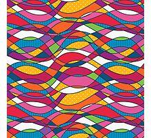 Bright geometric print Photographic Print