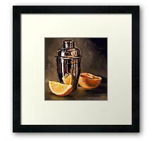 Orange & Martini Framed Print