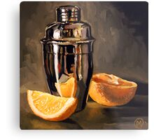 Orange & Martini Metal Print