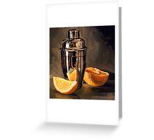 Orange & Martini Greeting Card
