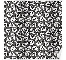 Funny zombie pattern Poster