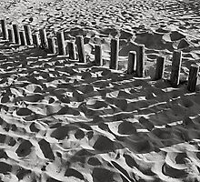 Shadows on the beach by newbeltane