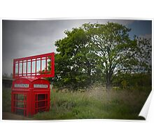 Telephone Box Sculpture  Poster