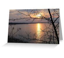 Sunset on Lake Ontario Greeting Card