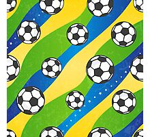 Football pattern Photographic Print