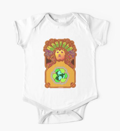 Recycle Mother Earth Planet One Piece - Short Sleeve