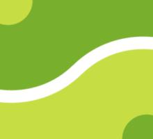 Green Yin Yang Sticker