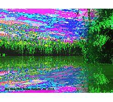 Sky Blue Pink Photographic Print
