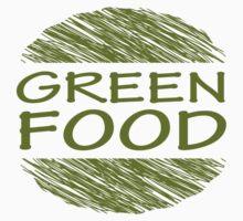 Go Green Food Vegetarian Vegan Kids Tee
