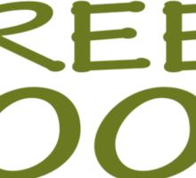 Go Green Food Vegetarian Vegan Sticker