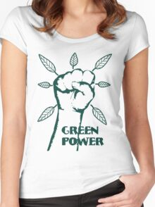 Go Green Power Women's Fitted Scoop T-Shirt