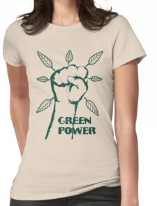 Go Green Power Womens Fitted T-Shirt