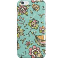 Retro doodle pattern iPhone Case/Skin
