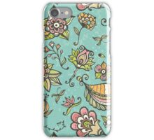 Retro doodle pattern iPhone Case/Skin