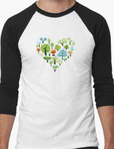 Green Tree Love Men's Baseball ¾ T-Shirt