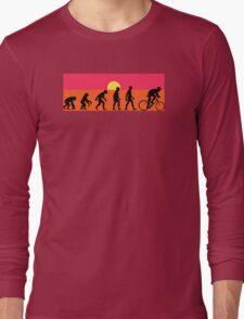 Pop Art Bike Evolution Long Sleeve T-Shirt