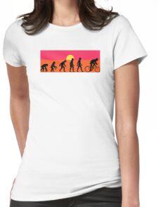 Pop Art Bike Evolution Womens Fitted T-Shirt