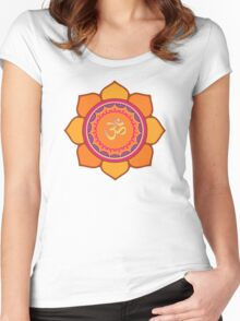 Lotus Om Symbol Women's Fitted Scoop T-Shirt