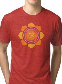 Lotus Om Symbol Tri-blend T-Shirt
