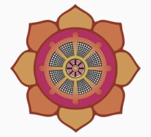 Lotus Buddhist Dharma Wheel by mindofpeace
