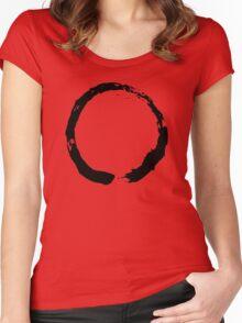 Zen Buddhist Enso Symbol Women's Fitted Scoop T-Shirt