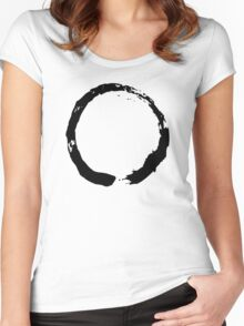Zen Buddhist Enso Symbol Women's Fitted Scoop T-Shirt