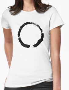 Zen Buddhist Enso Symbol Womens Fitted T-Shirt