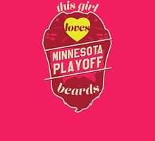 This Girl Loves MINNESOTA Playoff Beards! Womens Fitted T-Shirt