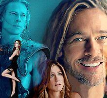 Brad Pitt by Dulcina