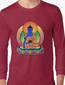 Buddhist Blue Buddha Long Sleeve T-Shirt