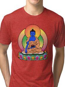 Buddhist Blue Buddha Tri-blend T-Shirt
