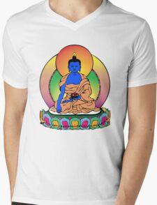 Buddhist Blue Buddha Mens V-Neck T-Shirt