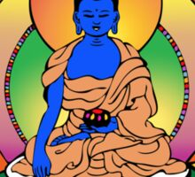 Yantra Blue Buddha Sticker