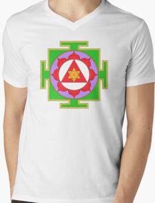Yantra Lotus Ganesha Symbol Mens V-Neck T-Shirt