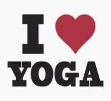 I Love Yoga Kids Clothes