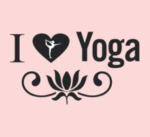 I Love Yoga V2 by mindofpeace