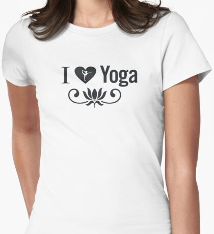 I Love Yoga V2 Womens Fitted T-Shirt