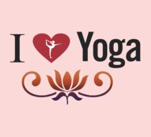 I Love Yoga V3 by mindofpeace