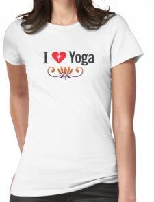 I Love Yoga V3 Womens Fitted T-Shirt