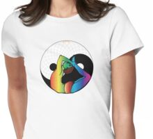Yin Yang Yoga Womens Fitted T-Shirt