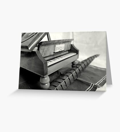 Piano and quill Greeting Card