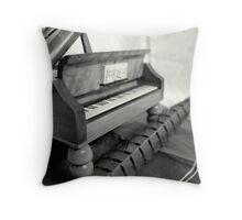 Piano and quill Throw Pillow