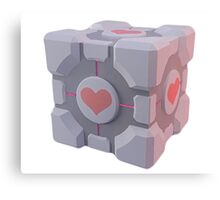 Portal Companion Cube Canvas Print