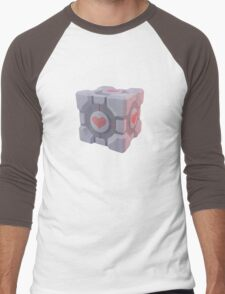 Portal Companion Cube Men's Baseball ¾ T-Shirt