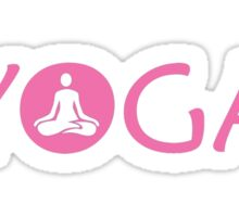 Yoga Meditate V3 Sticker
