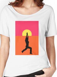 Pop Art Yoga Warrior Women's Relaxed Fit T-Shirt