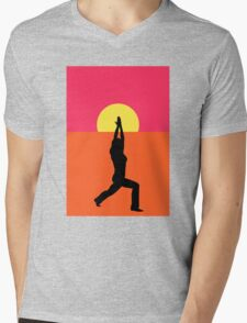 Pop Art Yoga Warrior Mens V-Neck T-Shirt