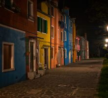 Streets of Burano by Kurt Golgart