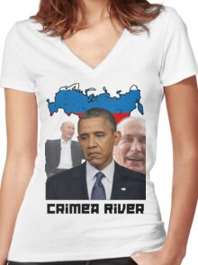 Crimea River - Inspire by Crimea Women's Fitted V-Neck T-Shirt